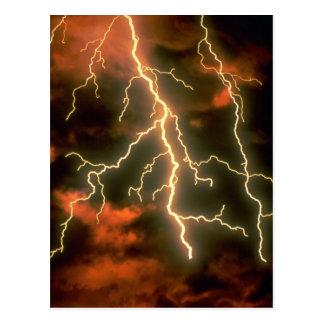Lightning texture postcard