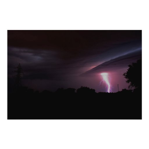Lightning, Tornado, PHOTO ENLARGEMENT Photographic Print