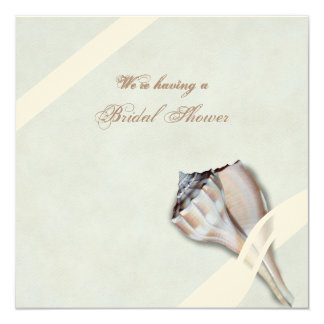 Lightning Whelk Shell Bridal Shower Invitation