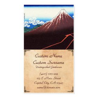 Lightnings below the summit Katsushika Hokusai Business Card