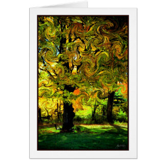 Lightplay in the Leaves Card