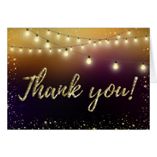 Lights and Stars Thank you Note Card