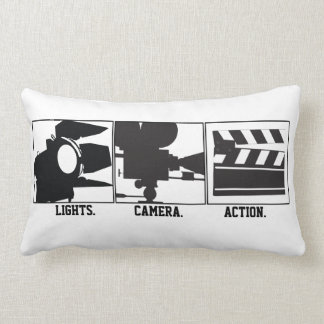Lights.Camera.Action. Movie Maker Pillow