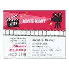 Lights Camera Action Movie Night Birthday Party Card