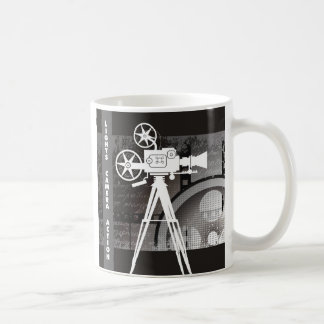 Lights, Camera, Action Movie Theme Coffee Mug