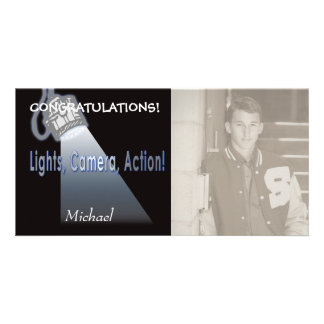"""Lights, Camera, Action!"" Personalized Photo Card"