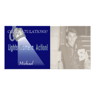 """Lights, Camera, Action!"" Photo Card Template"