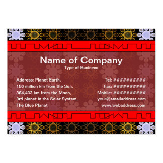 Lights Grid Large Business Cards (Pack Of 100)