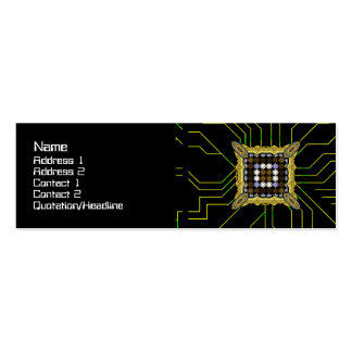 Lights Grid Double-Sided Mini Business Cards (Pack Of 20)