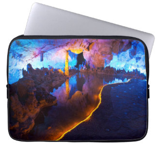 Lights in Reed Flute Cave, China Laptop Computer Sleeve
