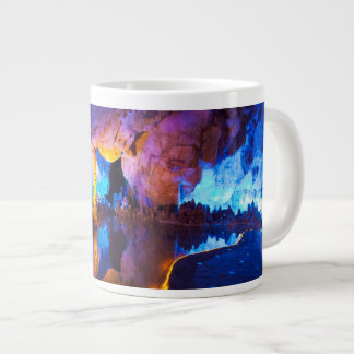 Lights in Reed Flute Cave, China Large Coffee Mug
