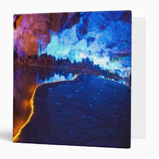 Lights in Reed Flute Cave, China Vinyl Binder