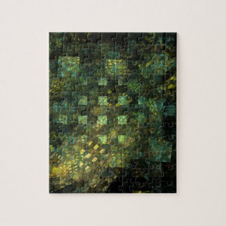 Lights in the City Abstract Art Jigsaw Puzzle