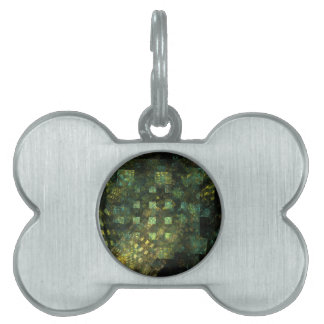 Lights in the City Abstract Art Pet Name Tag
