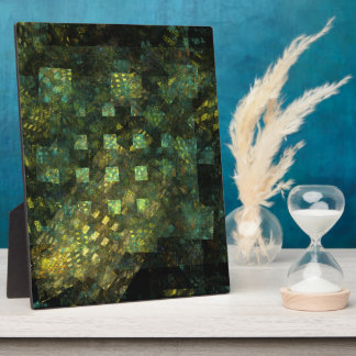 Lights in the City Abstract Art Plaque