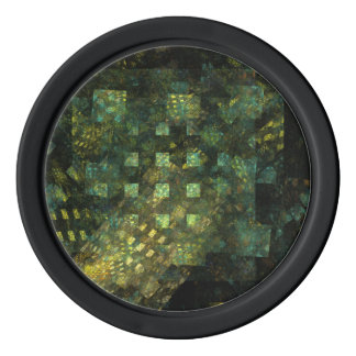 Lights in the City Abstract Art Poker Chips