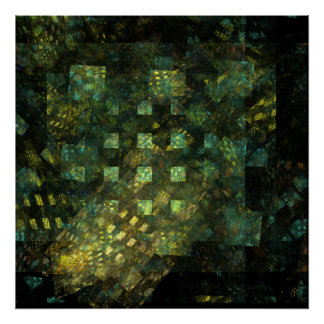 Lights in the City Abstract Art Print