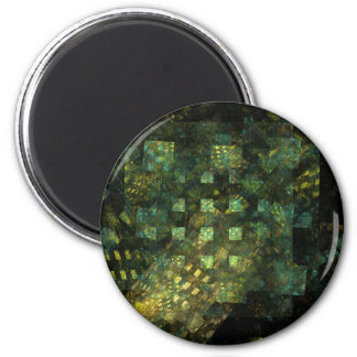 Lights in the City Abstract Art Round Magnet
