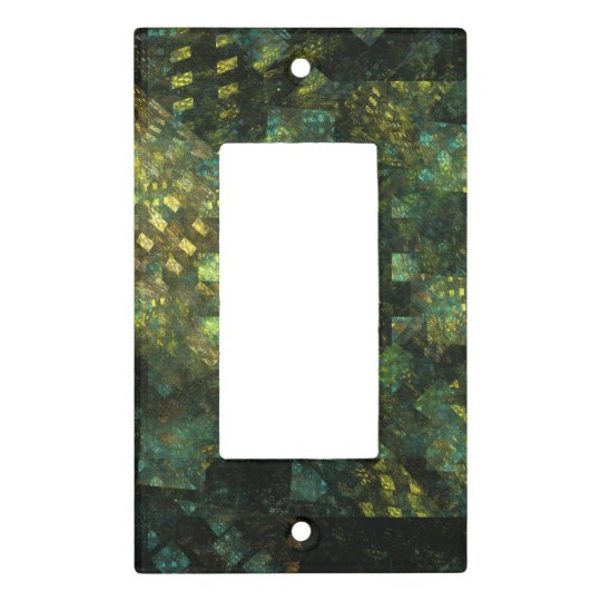 Lights in the City Abstract Art Single Rocker Light Switch Cover