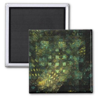 Lights in the City Abstract Art Square Magnet