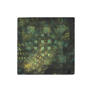 Lights in the City Abstract Art Stone Magnets