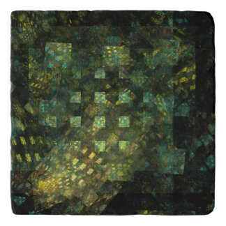 Lights in the City Abstract Art Stone Trivet