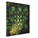 Lights in the City Abstract Wrapped Canvas Print