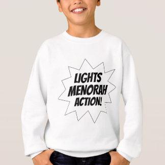 Lights Menorah Action - Black Sweatshirt