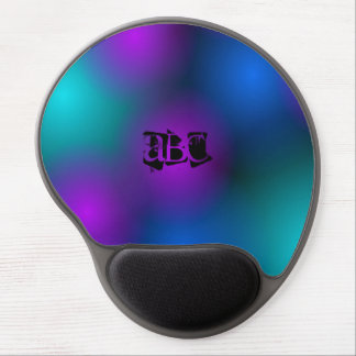 lights monogram Gel Mousepad. Gel Mouse Pad