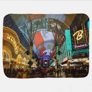 Lights Of Fremont Street Baby Blanket