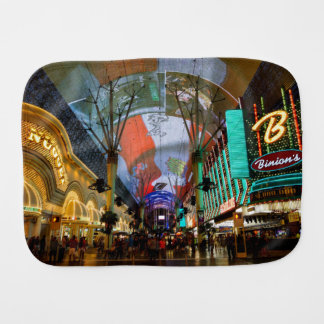 Lights Of Fremont Street Burp Cloth