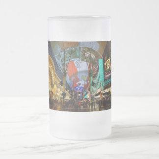 Lights Of Fremont Street Frosted Glass Beer Mug