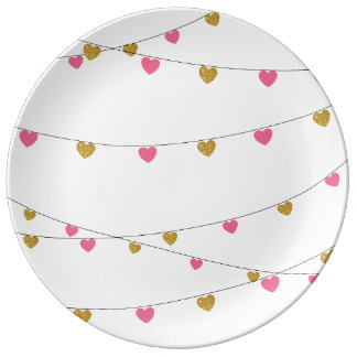 Lights of Love (Pink/Gold) Plate