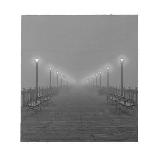 Lights on a pier. notepad