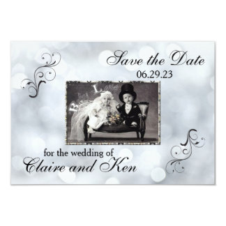 Lights Snow Glitter Sparkles - 3x5 Save the Date Card