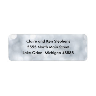 Lights Snow Glitter Sparkles Address Labels