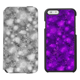 Lights/Snowflakes, Silver/Purp (iPhone6/6,SEor5/5) Incipio Watson™ iPhone 6 Wallet Case