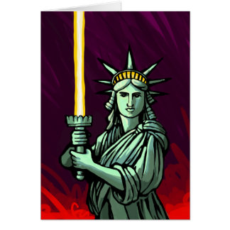 Lightsaber Liberty Card