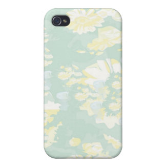 Lightshade Yellow Green Floral Template Case For The iPhone 4