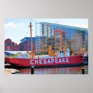 Lightship Chesapeake (and National Aquarium) Poster