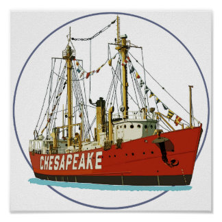 Lightship Chesapeake Poster