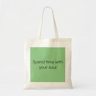 lightweight bag with inspiring quotation