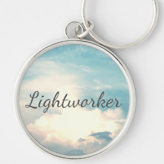 Lightworker Silver-Colored Round Keychain