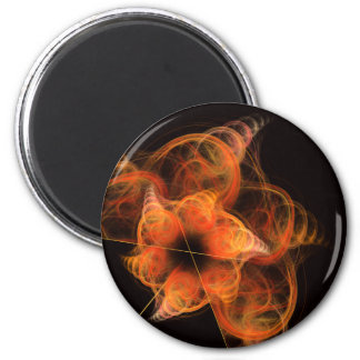 Lightworks Abstract Art Round Magnet