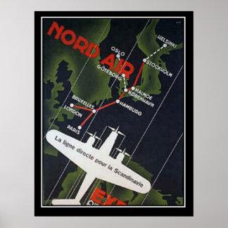 Ligne aérienne directe pour la copie de la Scandin Poster