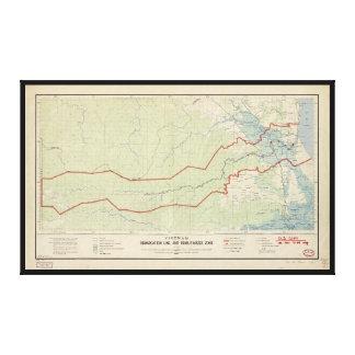 Ligne de délimitation du Vietnam et zone Toiles