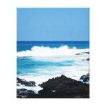 Ligne hawaïenne vagues de côte d'océan de lave d'H Impression Sur Toile