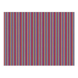 Lignes créatives rayures colorées de cadeaux du cartes postales