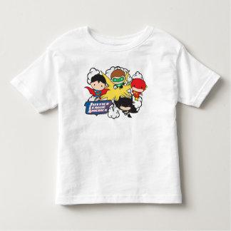Ligue de justice de Chibi d'explosion de T-shirt Pour Les Tous Petits