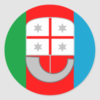 Liguria (Italy) Flag Round Sticker